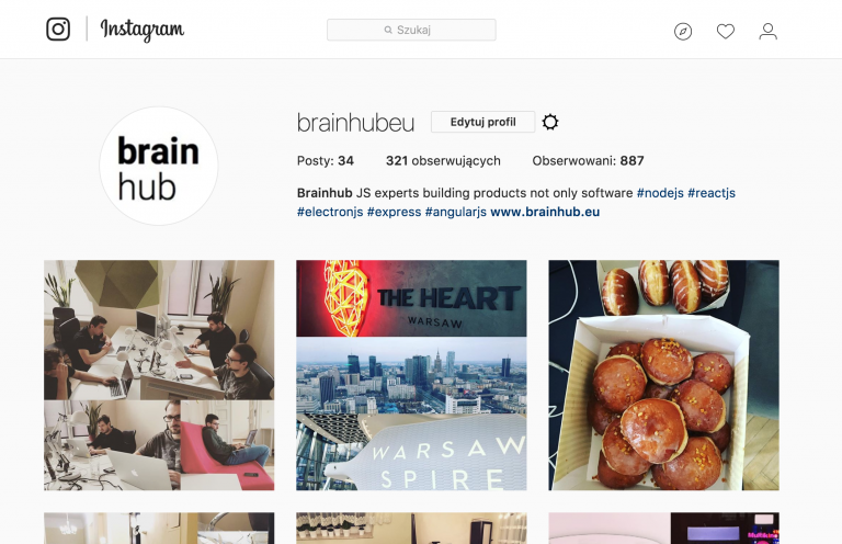 Instagram ReactJS
