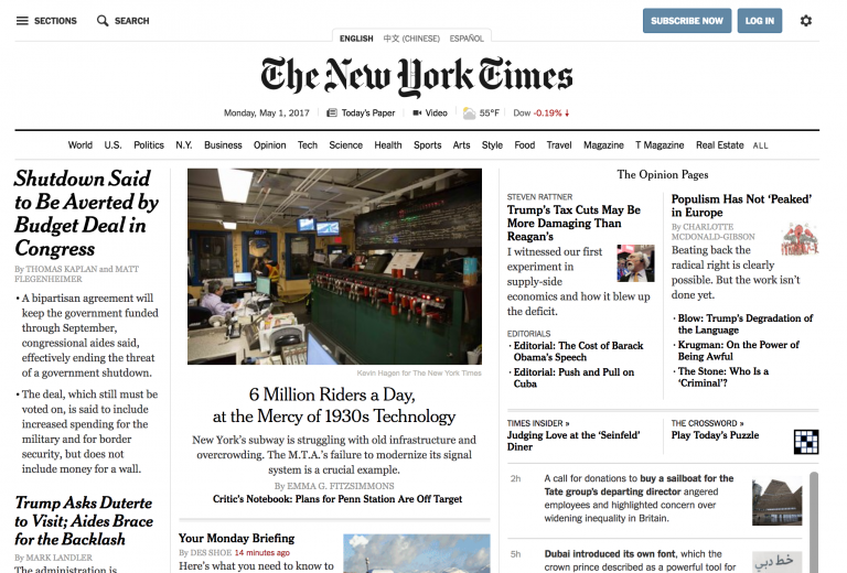 New York Times и React