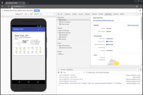 Ваше первое прогрессивное  веб-приложение (PWA)