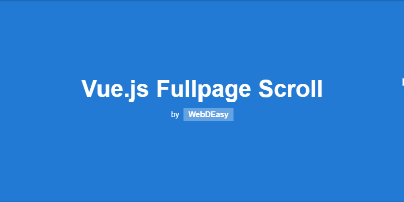 Programming Vue.js Fullpage Scroll